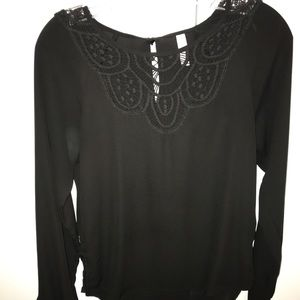 Tops - black lace top